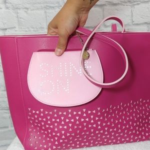 Bath & Body Works Bags - Bath & Body Works | Pink Laser Cut Tote & Bag
